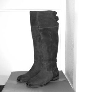 BP Gray Tall Leather Boots
